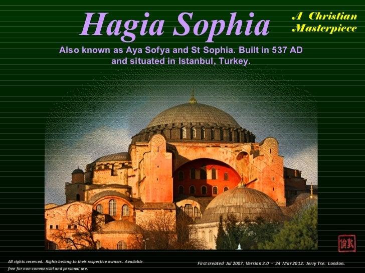 Hagia Sophia                                                                     A Christian                              ...