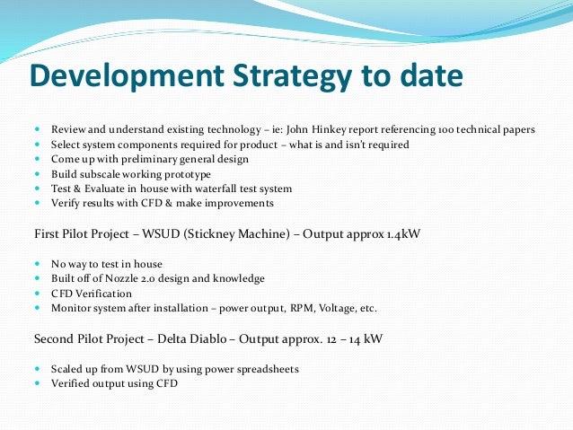 Waterfall turbine development primer updated for Waterfall development strategy