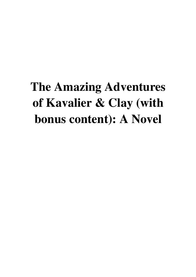 Amazing and pdf kavalier the adventures of clay