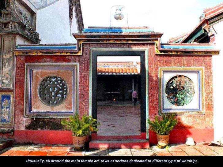 Unusually, all around the main temple are rows of shrines dedicated to different type of worships.