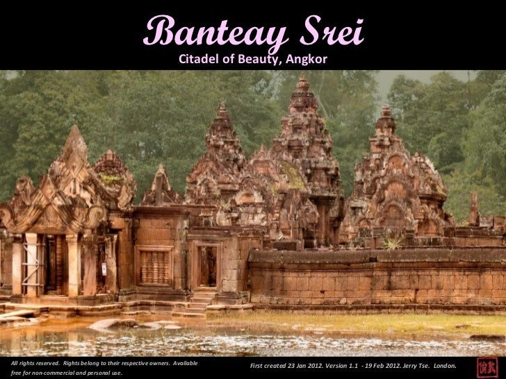 banteay srei citadel of beauty, angkor ''banteay srei citadel of beauty, angkor all rights reserved. rights belong to thei...