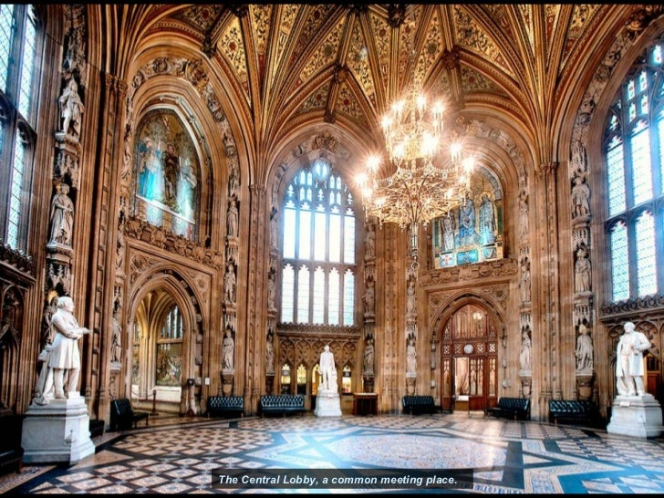Houses Of Parliament Interior. The Central Lobby  a common meeting place Palace of Westminster House Parliament
