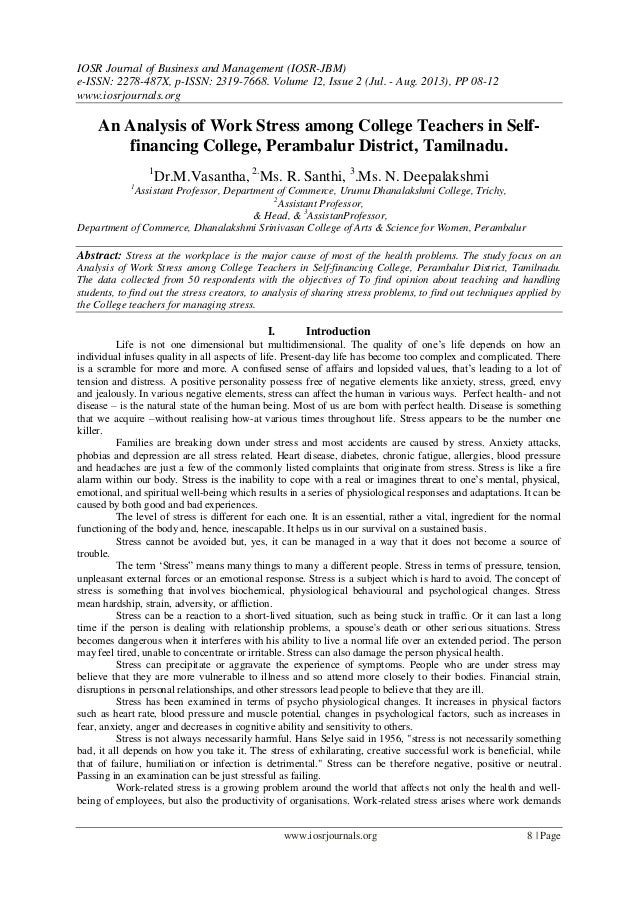 academic stress in college students