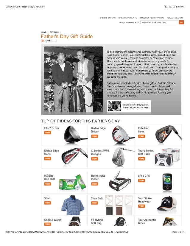 10/10/12 1:48 PMCallaway Golf Father's Day Gift Guide Page 1 of 4file:///Users/paula/Library/Mail%20Downloads/Callaway%20G...