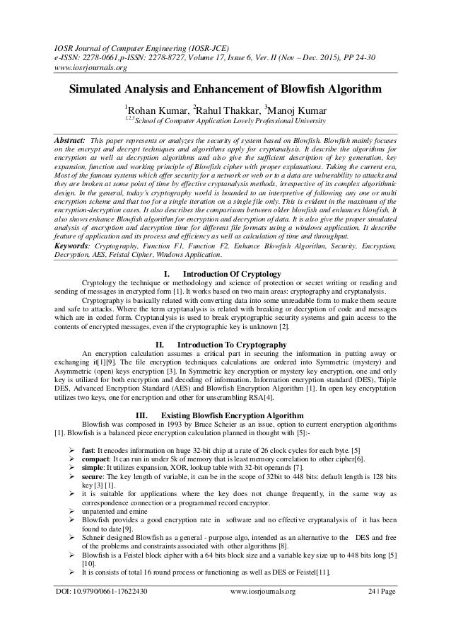 IOSR Journal of Computer Engineering (IOSR-JCE) e-ISSN: 2278-0661,p-ISSN: 2278-8727, Volume 17, Issue 6, Ver. II (Nov – De...