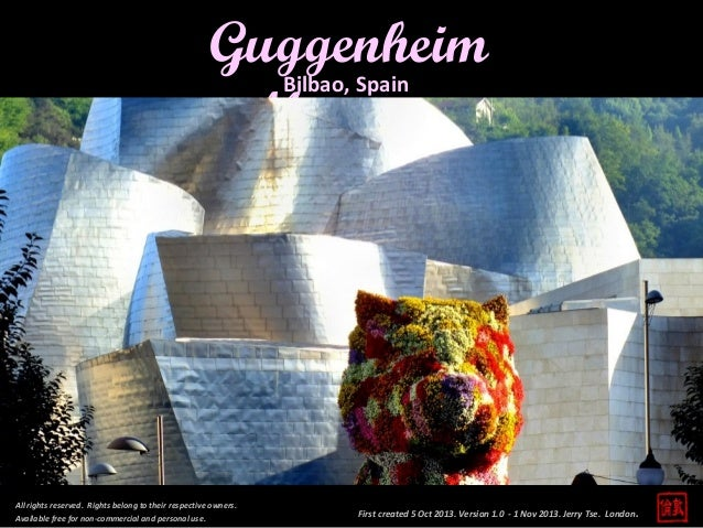 Guggenheim Museum Bilbao, Spain  All rights reserved. Rights belong to their respective owners. Available free for non-com...