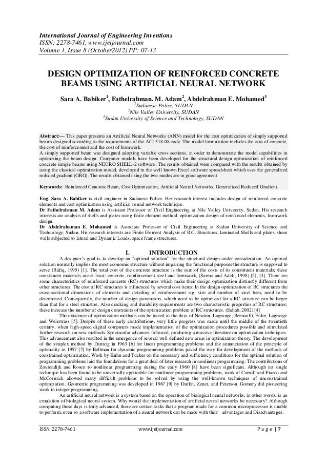 International Journal of Engineering InventionsISSN: 2278-7461, www.ijeijournal.comVolume 1, Issue 8 (October2012) PP: 07-...