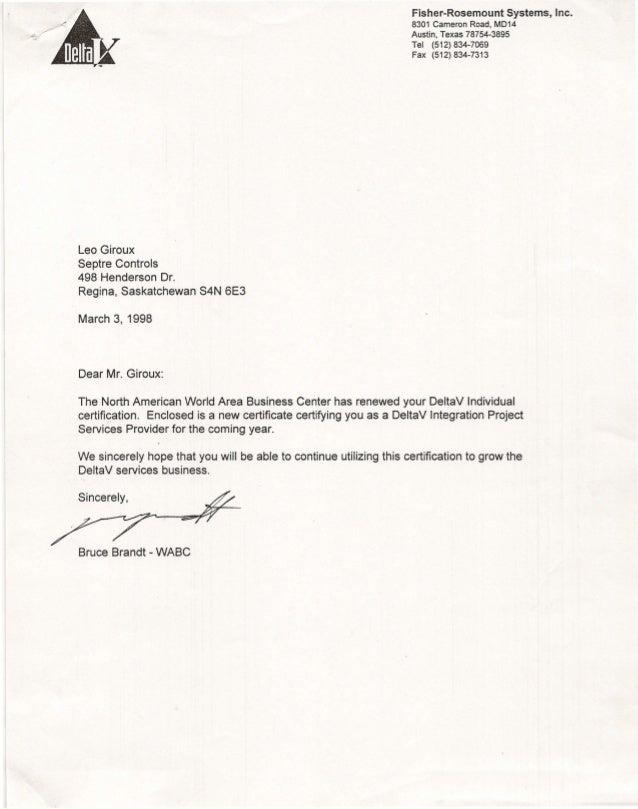 Deltav Certification 1999