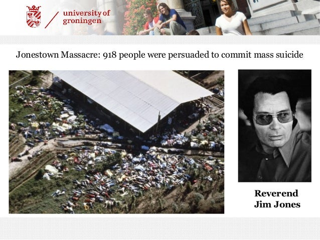An analysis of the mass suicides and the influence of reverend