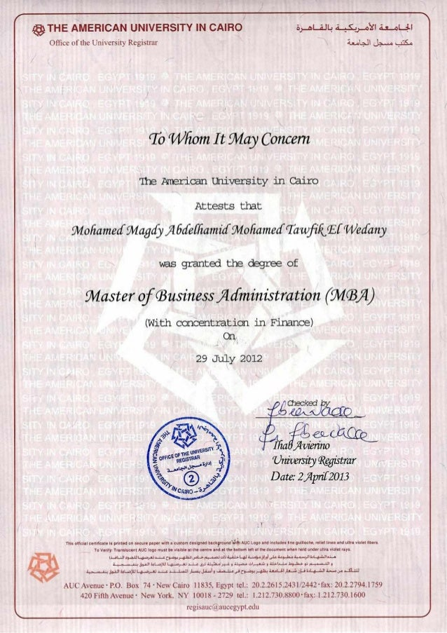 Mohamed Magdy Elwadiny Certificate Master Mba