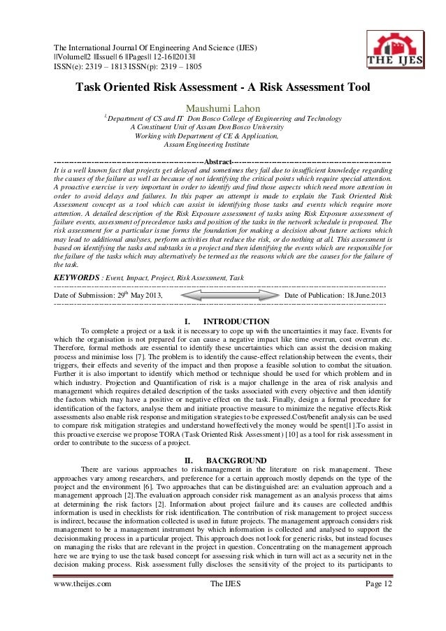 The International Journal Of Engineering And Science (IJES)   Volume  2   Issue   6   Pages   12-16  2013   ISSN(e): 2319 ...