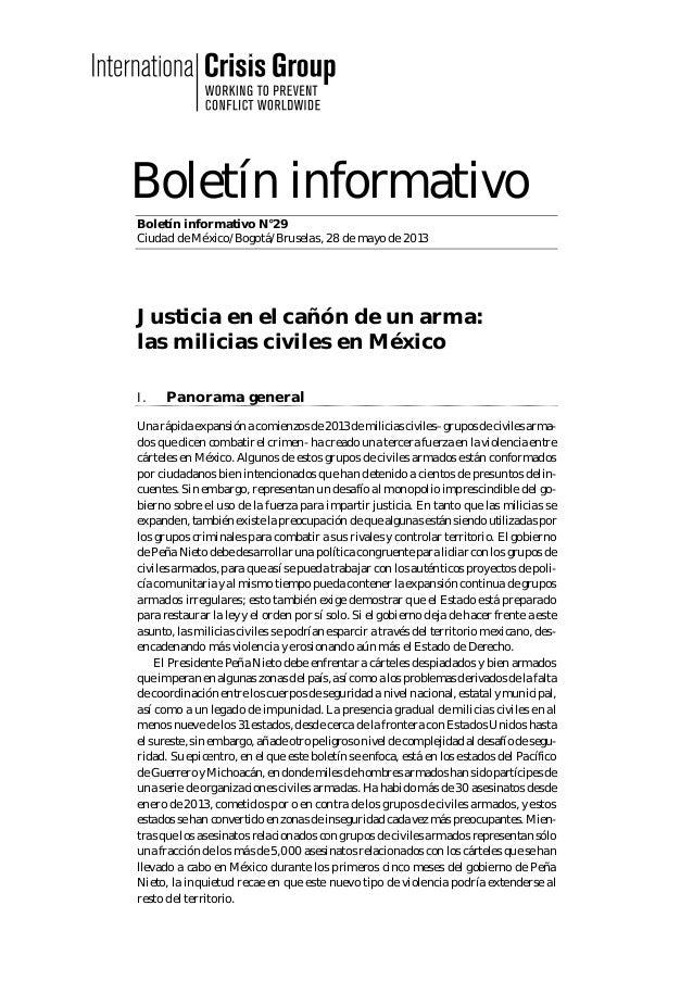 Boletín informativo Boletín informativo N°29 Ciudad de México/Bogotá/Bruselas, 28 de mayo de 2013 Justicia en el cañón de ...