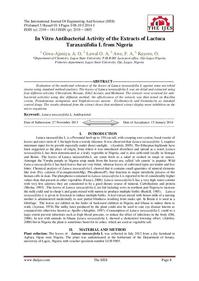 The International Journal Of Engineering And Science (IJES) ||Volume|| 3 ||Issue|| 01 || Pages || 08-10 || 2014 || ISSN (e...