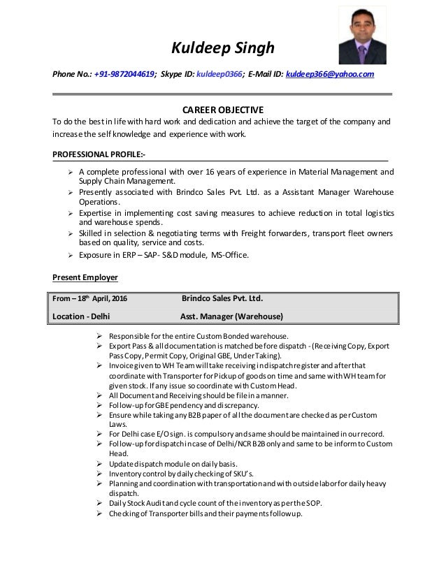 Kuldeep Singh _ Updated Resume