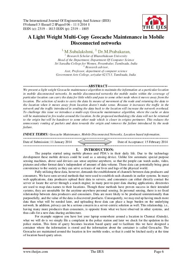 The International Journal Of Engineering And Science (IJES) ||Volume|| 3 ||Issue|| 2 ||Pages|| 06 - 11 || 2014 || ISSN (e)...