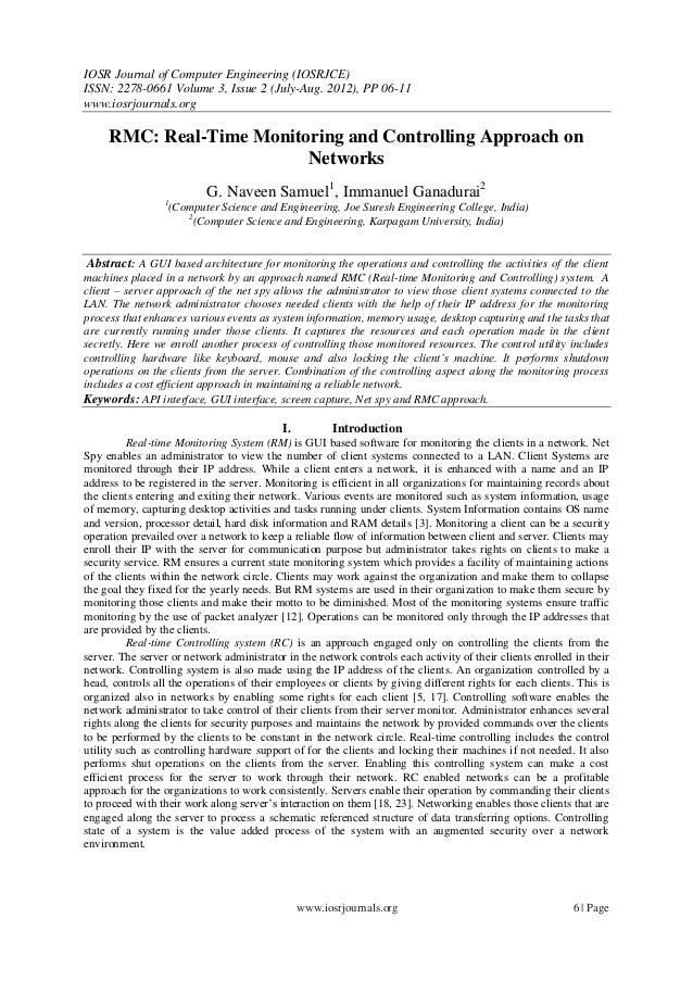 IOSR Journal of Computer Engineering (IOSRJCE) ISSN: 2278-0661 Volume 3, Issue 2 (July-Aug. 2012), PP 06-11 www.iosrjourna...
