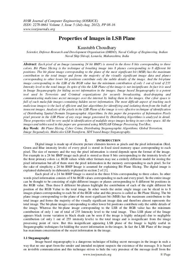 IOSR Journal of Computer Engineering (IOSRJCE) ISSN: 2278-0661 Volume 3, Issue 5 (July-Aug. 2012), PP 08-16 www.iosrjourna...