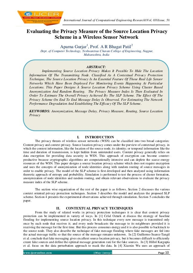 International Journal of Computational Engineering Research||Vol, 03||Issue, 5||www.ijceronline.com ||May ||2013|| Page 10...