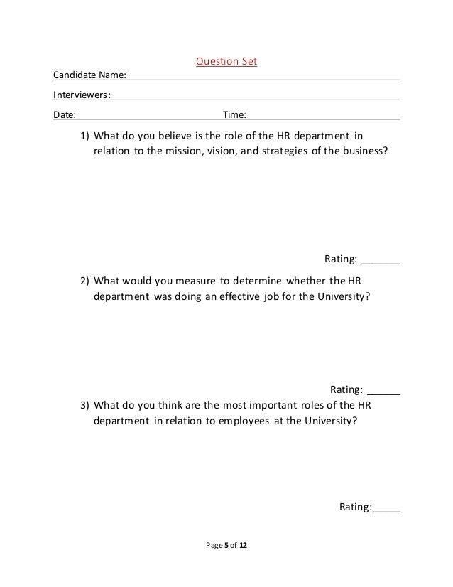 Example of interview protocol for Qualitative research interview protocol template