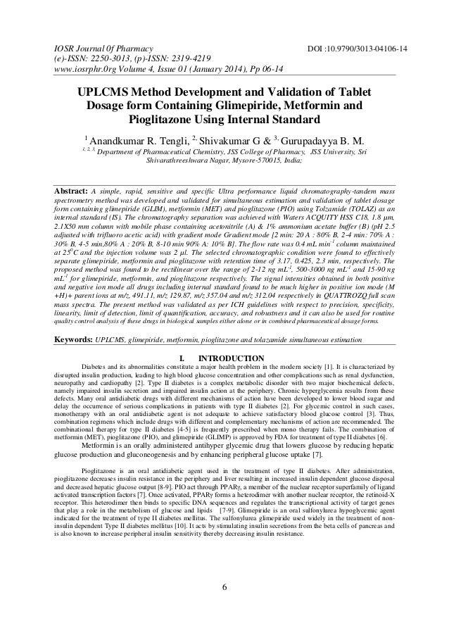 IOSR Journal 0f Pharmacy (e)-ISSN: 2250-3013, (p)-ISSN: 2319-4219 www.iosrphr.0rg Volume 4, Issue 01 (January 2014), Pp 06...