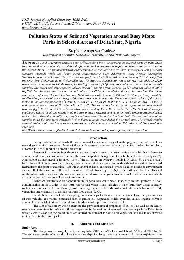 IOSR Journal of Applied Chemistry (IOSR-JAC) e-ISSN: 2278-5736.Volume 4, Issue 2 (Mar. – Apr. 2013), PP 05-12 www.iosrjour...