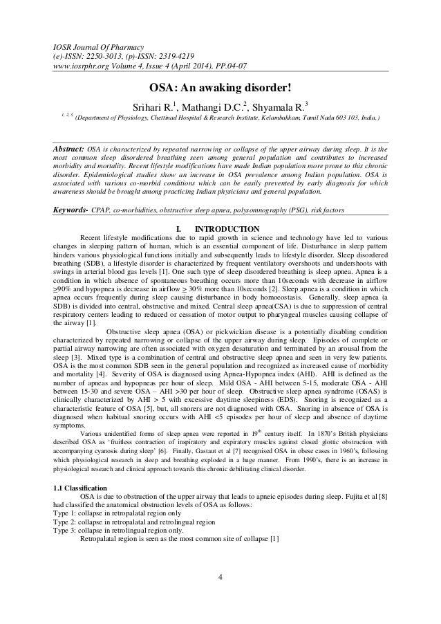 IOSR Journal Of Pharmacy (e)-ISSN: 2250-3013, (p)-ISSN: 2319-4219 www.iosrphr.org Volume 4, Issue 4 (April 2014), PP.04-07...