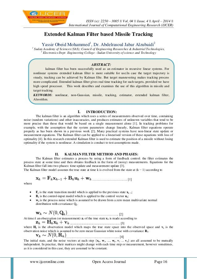 ISSN (e): 2250 – 3005 || Vol, 04 || Issue, 4 || April – 2014 || International Journal of Computational Engineering Researc...