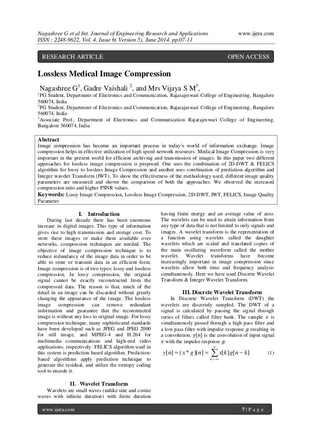 Nagashree G et al Int. Journal of Engineering Research and Applications www.ijera.com ISSN : 2248-9622, Vol. 4, Issue 6( V...