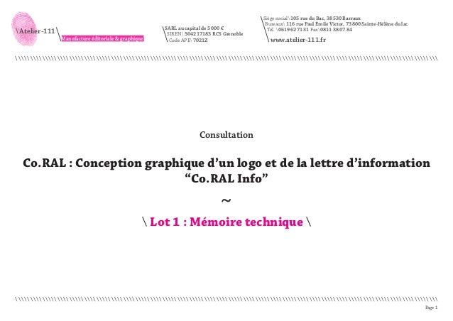 Page 1   Atelier-111 Manufacture éditoriale & graphique Siège social 105 rue du Bac, 38530 Barraux Bureaux 116 rue Paul Ém...