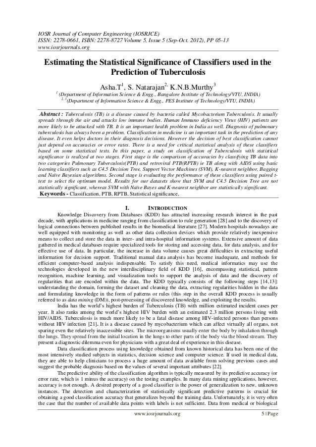 IOSR Journal of Computer Engineering (IOSRJCE) ISSN: 2278-0661, ISBN: 2278-8727 Volume 5, Issue 5 (Sep-Oct. 2012), PP 05-1...