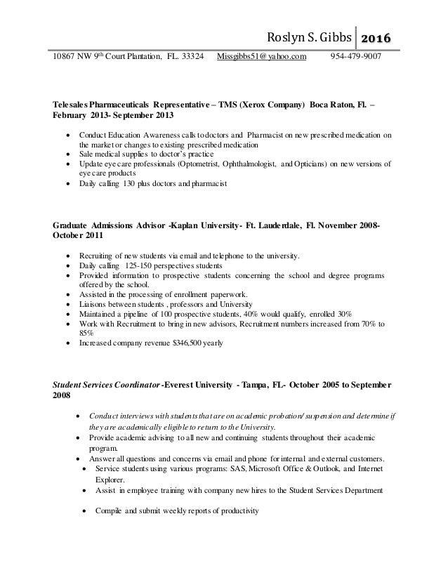 roslyn gibbs healthcare recruiter resume 2016