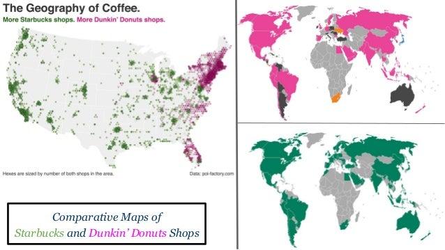 Berman Dunkin Donuts Vs Starbucks - Dunkin donuts us map