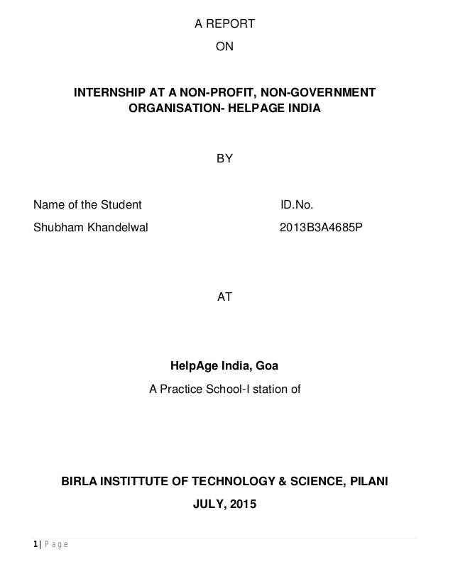 helpage india case study solution
