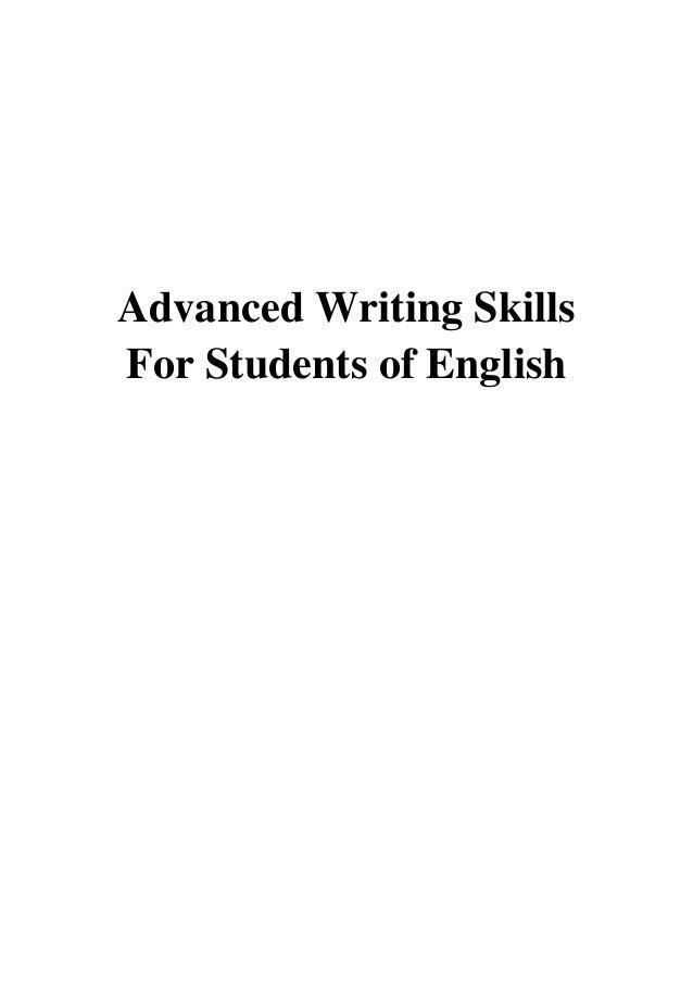 Advanced Writing Skills For Students of English PDF - Phil Williams