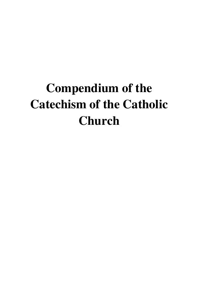 Catholic the compendium of the catechism church pdf of
