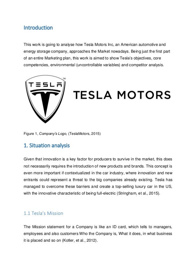 tesla customer analysis Marketing segmentation for tesla motors  geographic segmentation is used when a product satisfies a customer's   swot analysis of tesla motors swot.