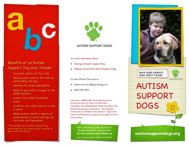 2010 Fall Autism Support Dogs Brochure