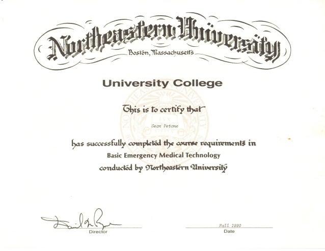 EMT Certificate
