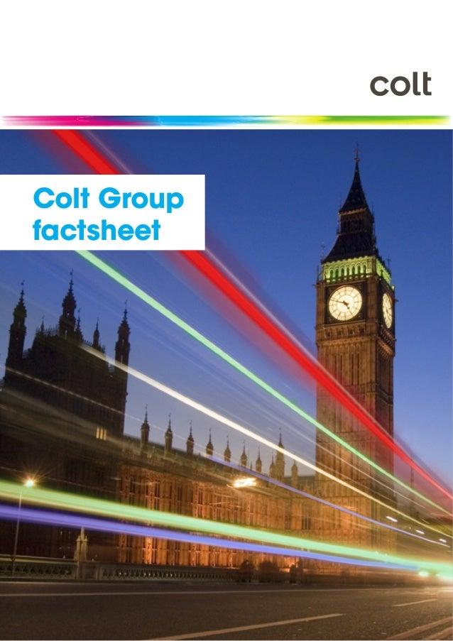 Colt Group factsheet