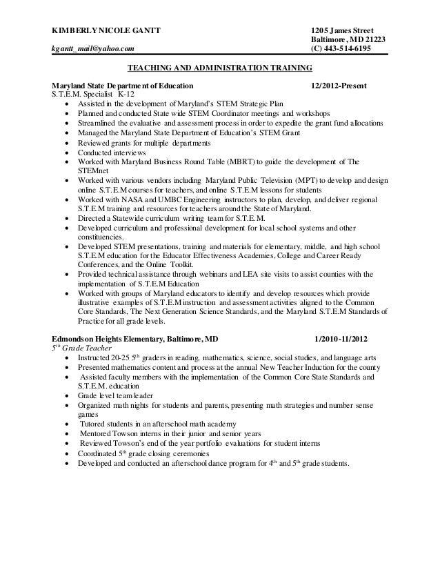 kimberly gantt resume 3 2015