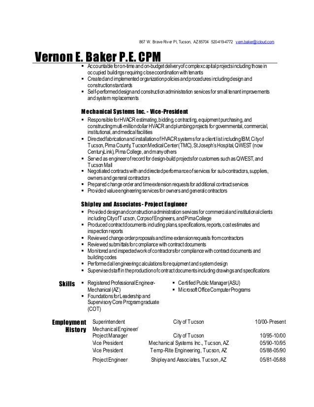 Contemporary Tucson Engineering Resume Gift - Administrative Officer ...
