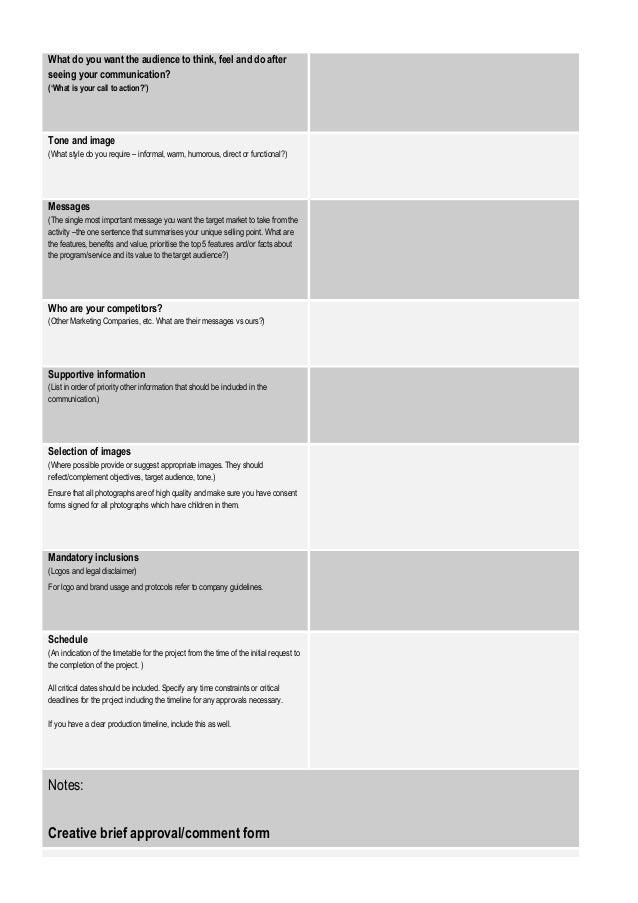 CreativeBriefTemplate – Creative Brief Template