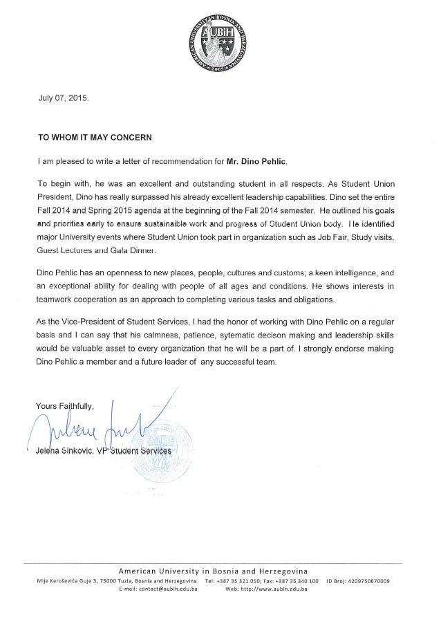 Recommendation letter_Dino Pehlic_Aubih