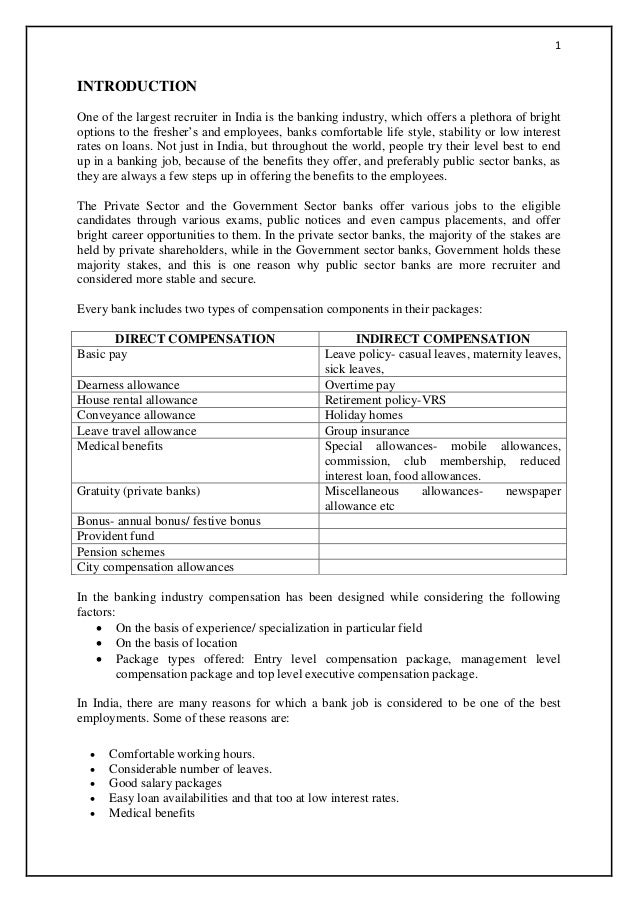 compensation package for pvt sector banks in india