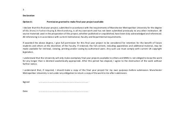 Pay for dissertation declaration