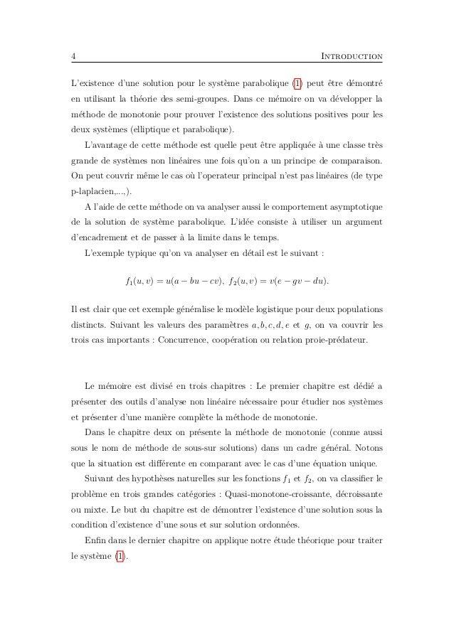 6 Chapitre 1. Préliminaires C'est la norme dans l'espace de Lebesgue Lp . Définition 1.2. On pose L∞ (Ω) = f : Ω → R ; f me...