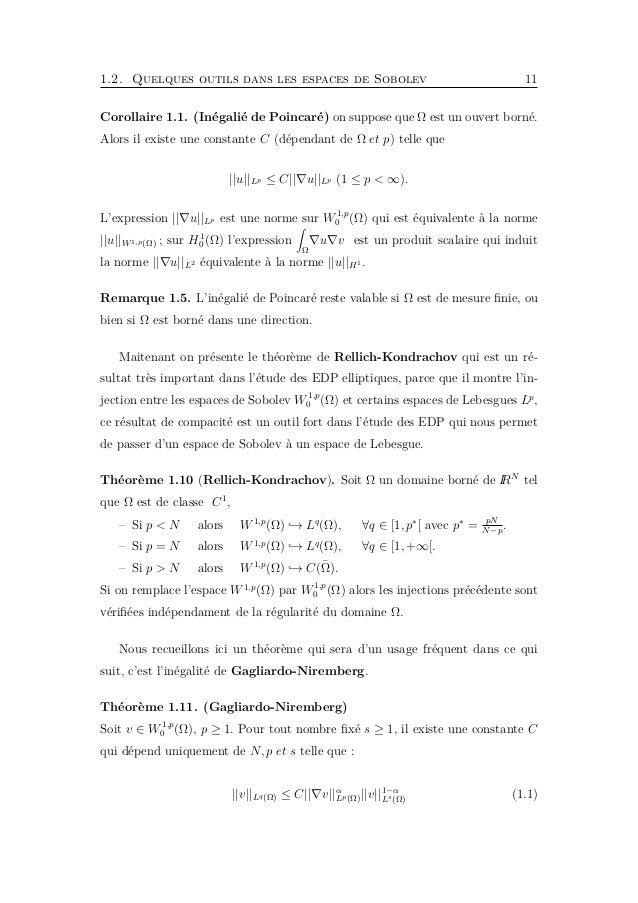 1.3. Quelques outils dans les espaces de Sobolev paraboliques 13 ||f||Lq,r(ΩT ) = T 0 ||f(., t)||r Lq(Ω)dt 1 r = T 0 Ω |f(...