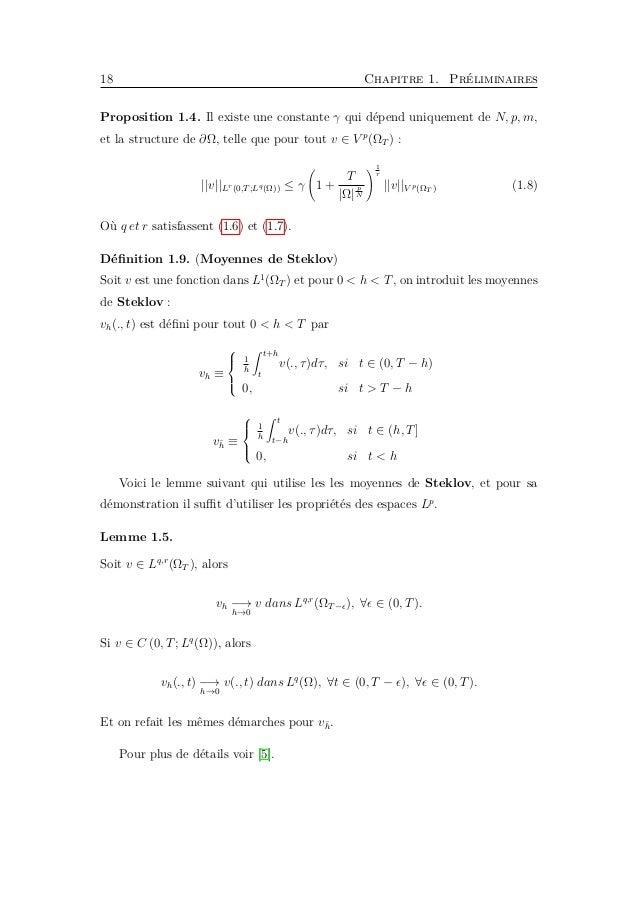20 Chapitre 2. La méthode de monotonie Théorème 2.2. (Le principe du maximum : le cas parabolique ) Soit Ω un demaine born...