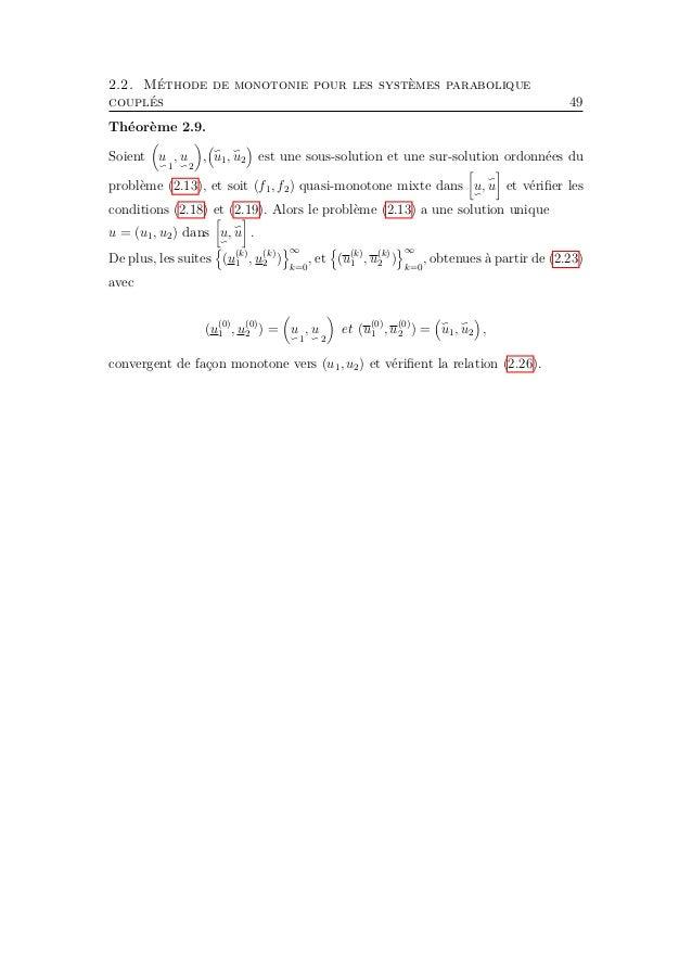 52 Chapitre 3. Applications Dans ce chapitre, nous supposons toujours que Ω est un domaine borné dans RN , N ≥ 2. Les cons...