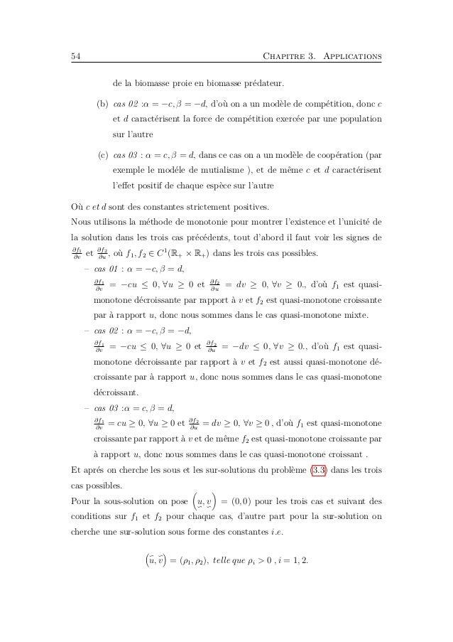 3.3. Existence d'une solution de coexistence 57 3.3 Existence d'une solution de coexistence On sait qu'une solution statio...